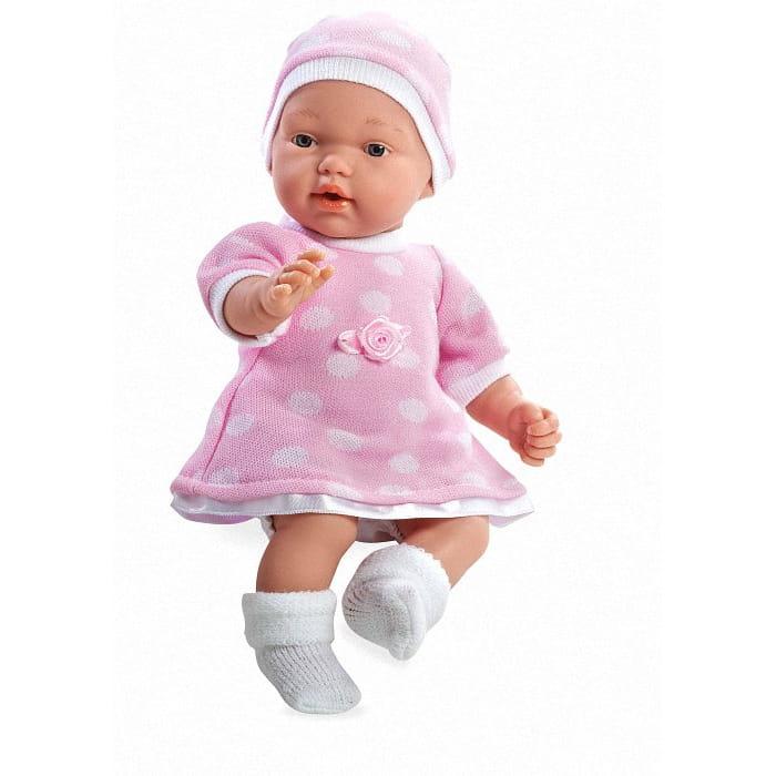 Пупс Arias Т59275 в розовом платье и шапочке - 28 см