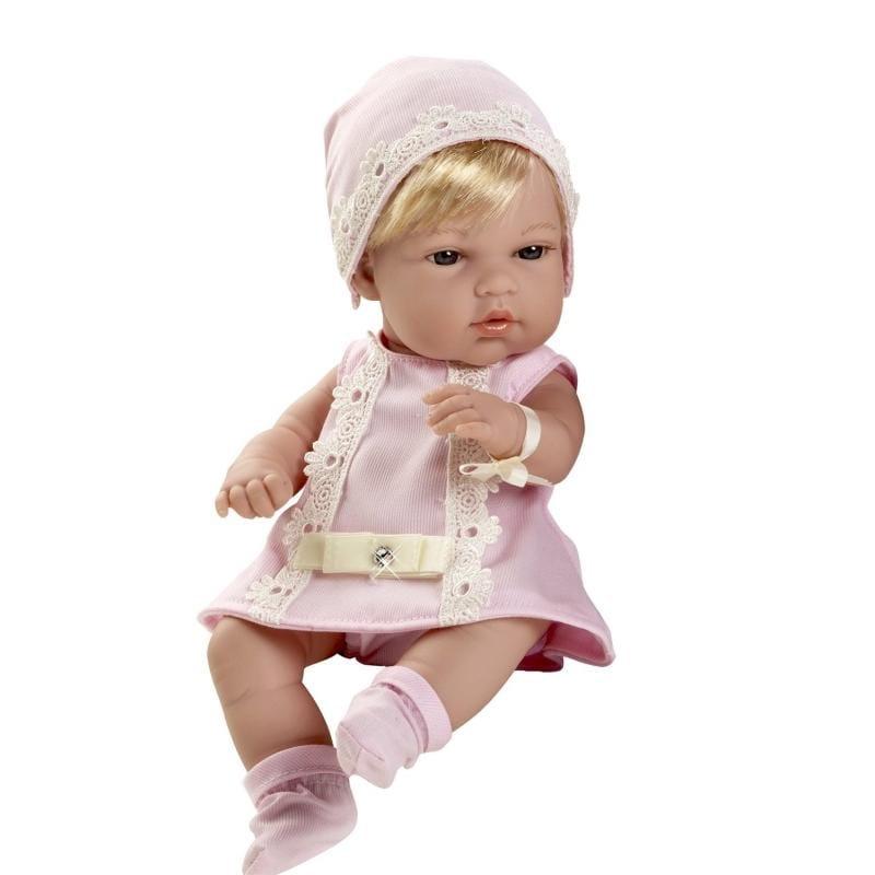 Пупс Arias Т59285 Блондинка в розовом платьице со стразами Swarowski - 33 см