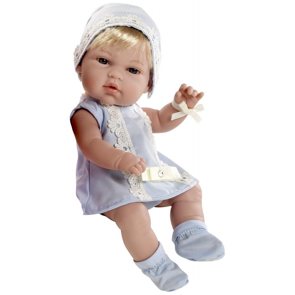 Пупс Arias Т59286 Блондинка в голубом платьице со стразами Swarowski - 33 см
