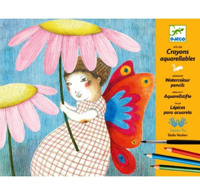 Раскраска-аппликация Djeco 08611 Художественная мастерская