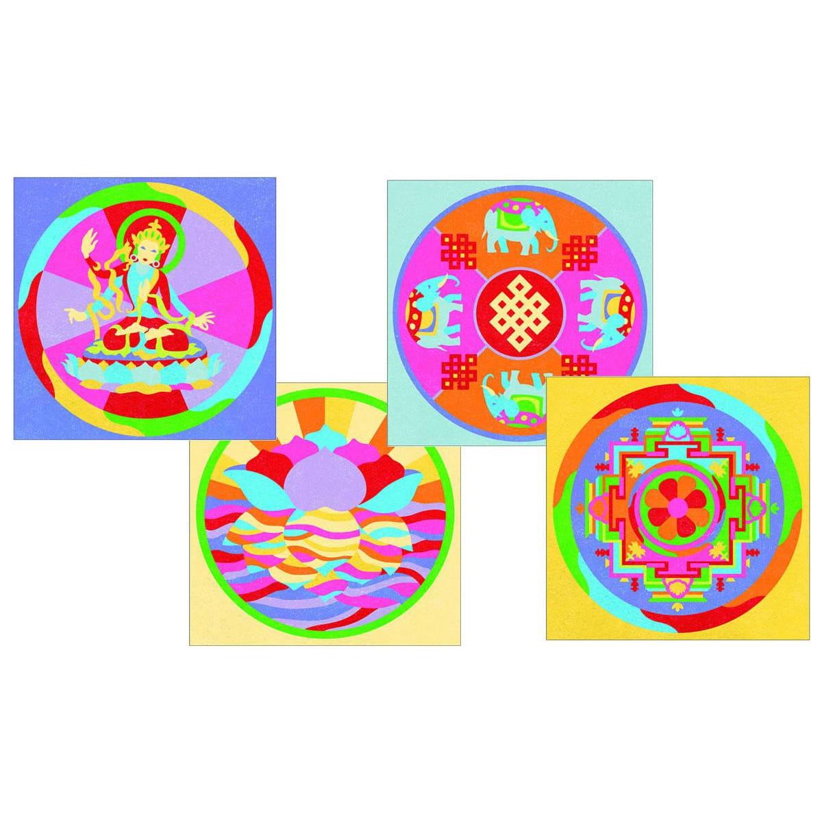 Песочные картинки Djeco 08634 Тибетские мандалы