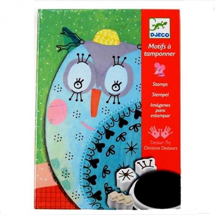 Набор для творчества со штампами Djeco 08782 Милые животные