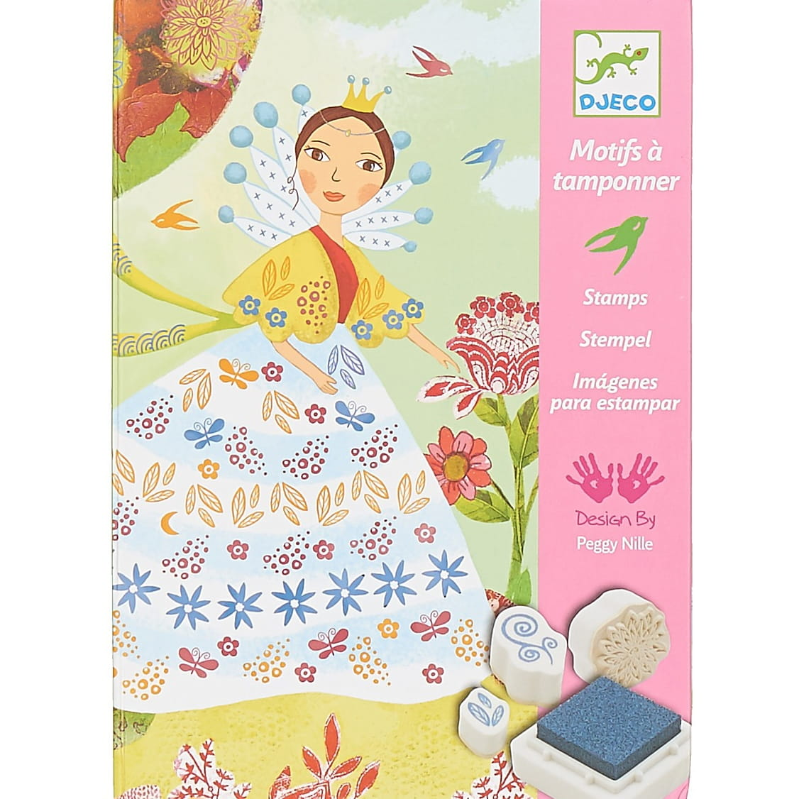 Набор для творчества со штампами Djeco 08783 Девушки с цветами
