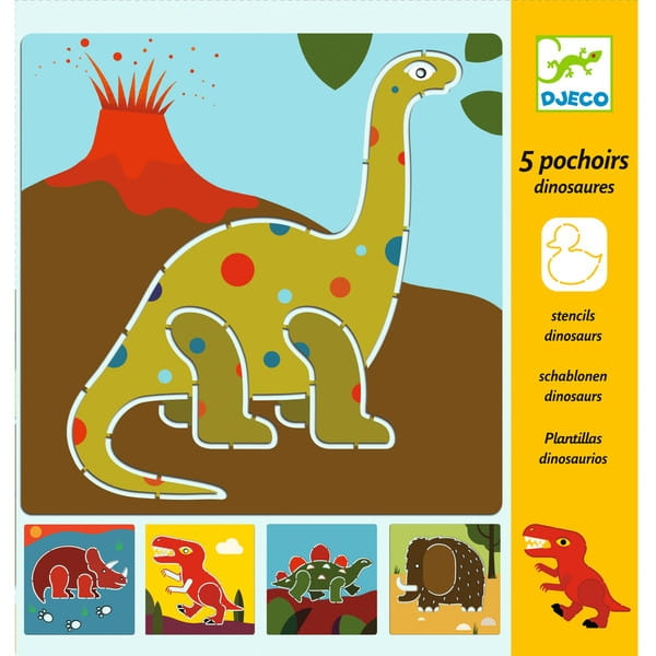 Набор трафаретов Djeco 08863 Динозавры