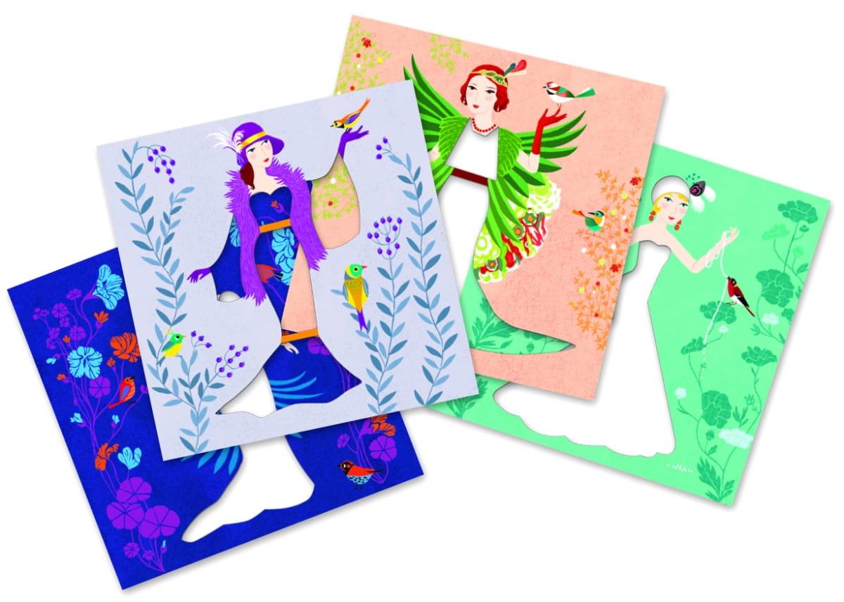 Набор для творчества Djeco 09442 Бумажный декор - Платья