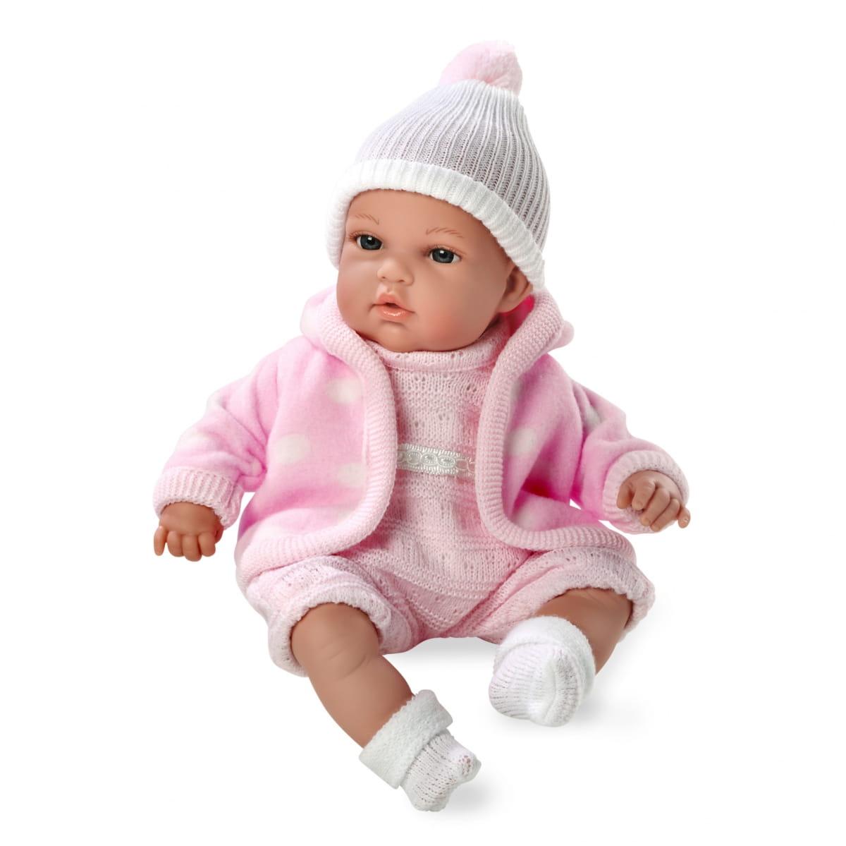 Пупс Arias Т59783 в розовой флисовой курточке - 33 см