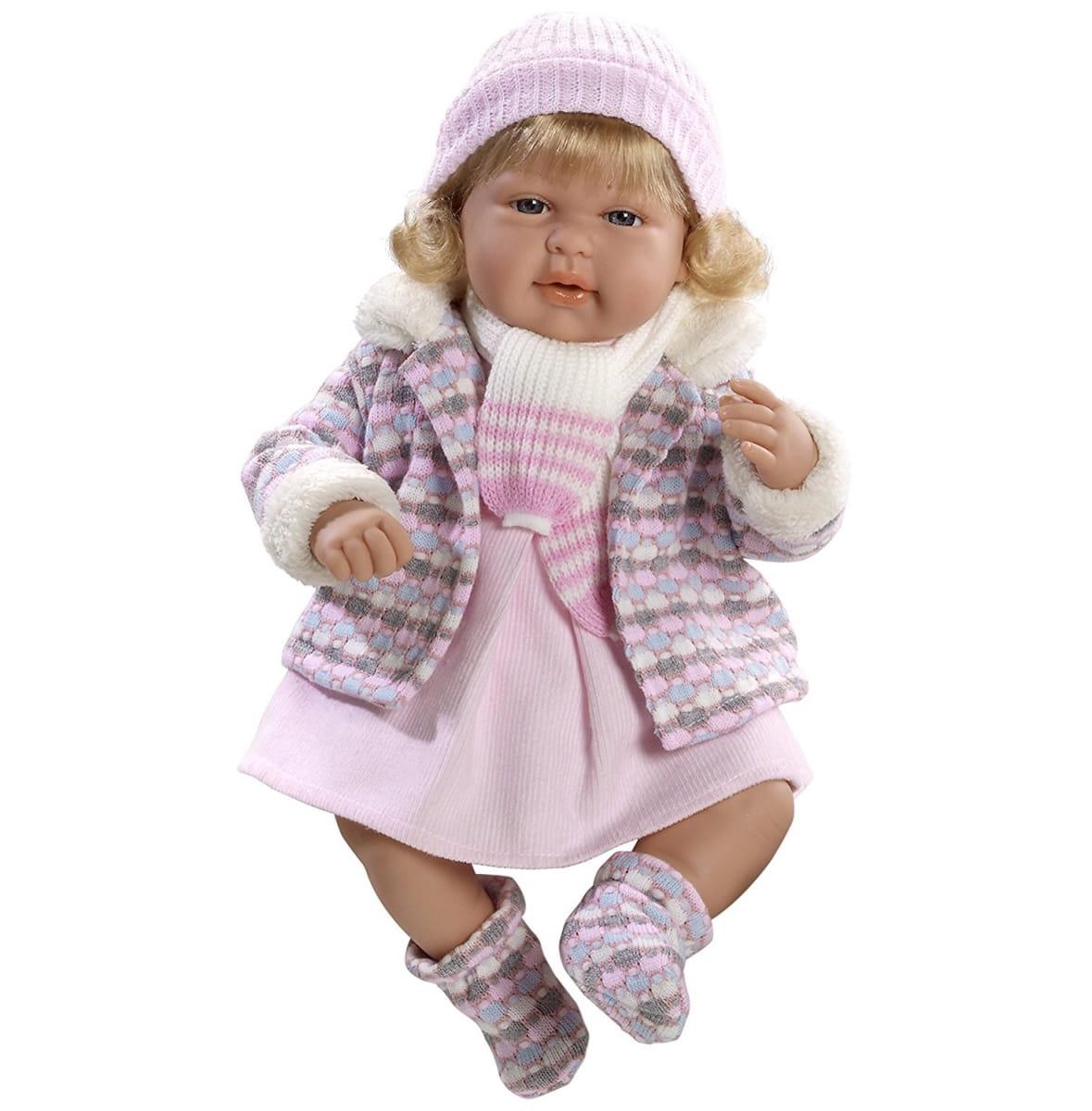 Пупс Arias Т59788 в теплой розовой курточке - 45 см