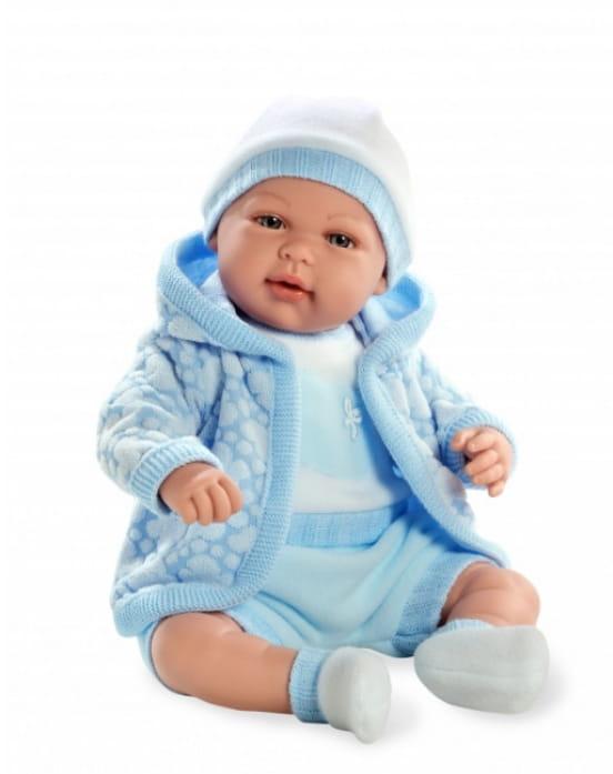 Пупс Arias Т59790 в голубой курточке с капюшоном - 45 см
