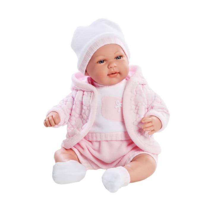 Пупс Arias Т59791 в розовой курточке с капюшоном - 45 см