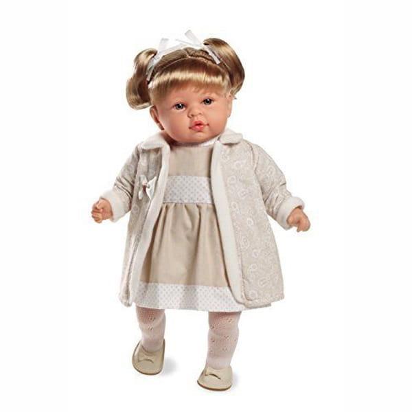 Пупс Arias Т59793 в кремовом платье - 45 см
