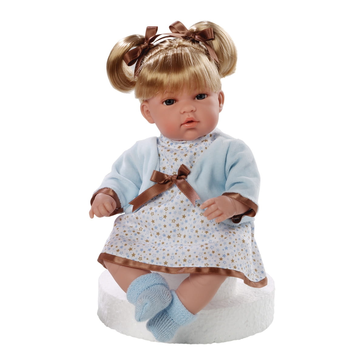 Пупс Arias Т59802 Блондинка в платье со звездами - 33 см