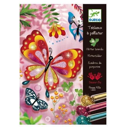 Раскраска Djeco 09503 Блестящие бабочки