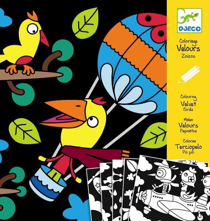 Набор бархатных раскрасок Djeco 09621 Птицы