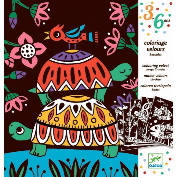 Набор бархатных раскрасок Djeco 09624 Черепахи