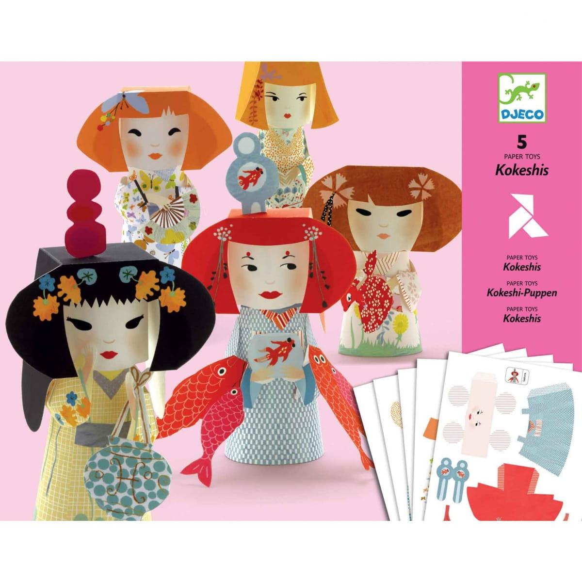 Набор для творчества Djeco 09672 Волшебная бумага - Девушки