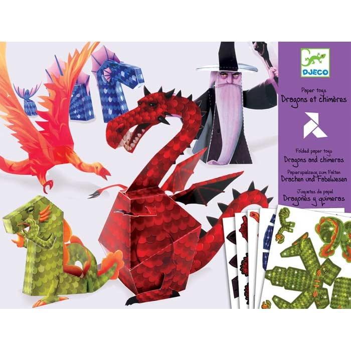 Набор для творчества Djeco 09673 Волшебная бумага - Драконы