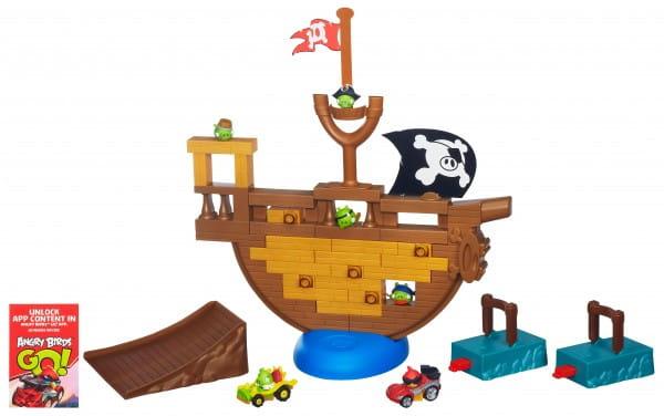 Купить Настольная игра Angry Birds Пиратский корабль (Hasbro) в интернет магазине игрушек и детских товаров