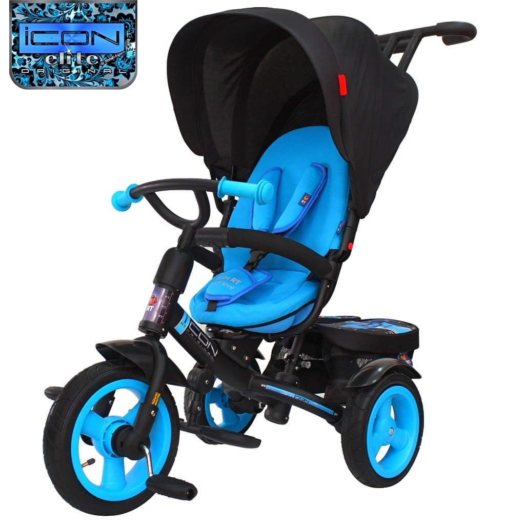 Трехколесный велосипед Icon 6342 Elite New Stroller by Natali Prigaro - Blue topaz