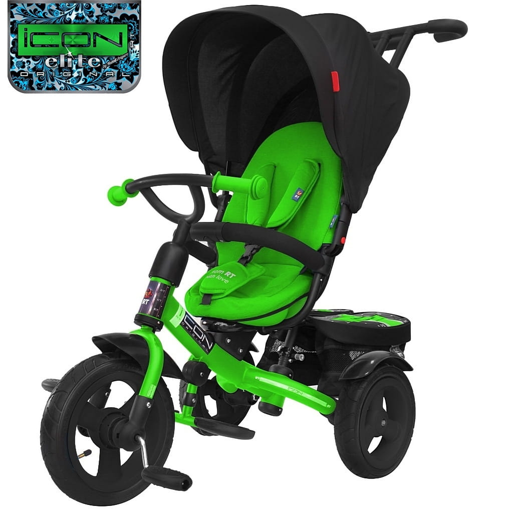 Трехколесный велосипед Icon 6343 Elite New Stroller by Natali Prigaro - Emerald