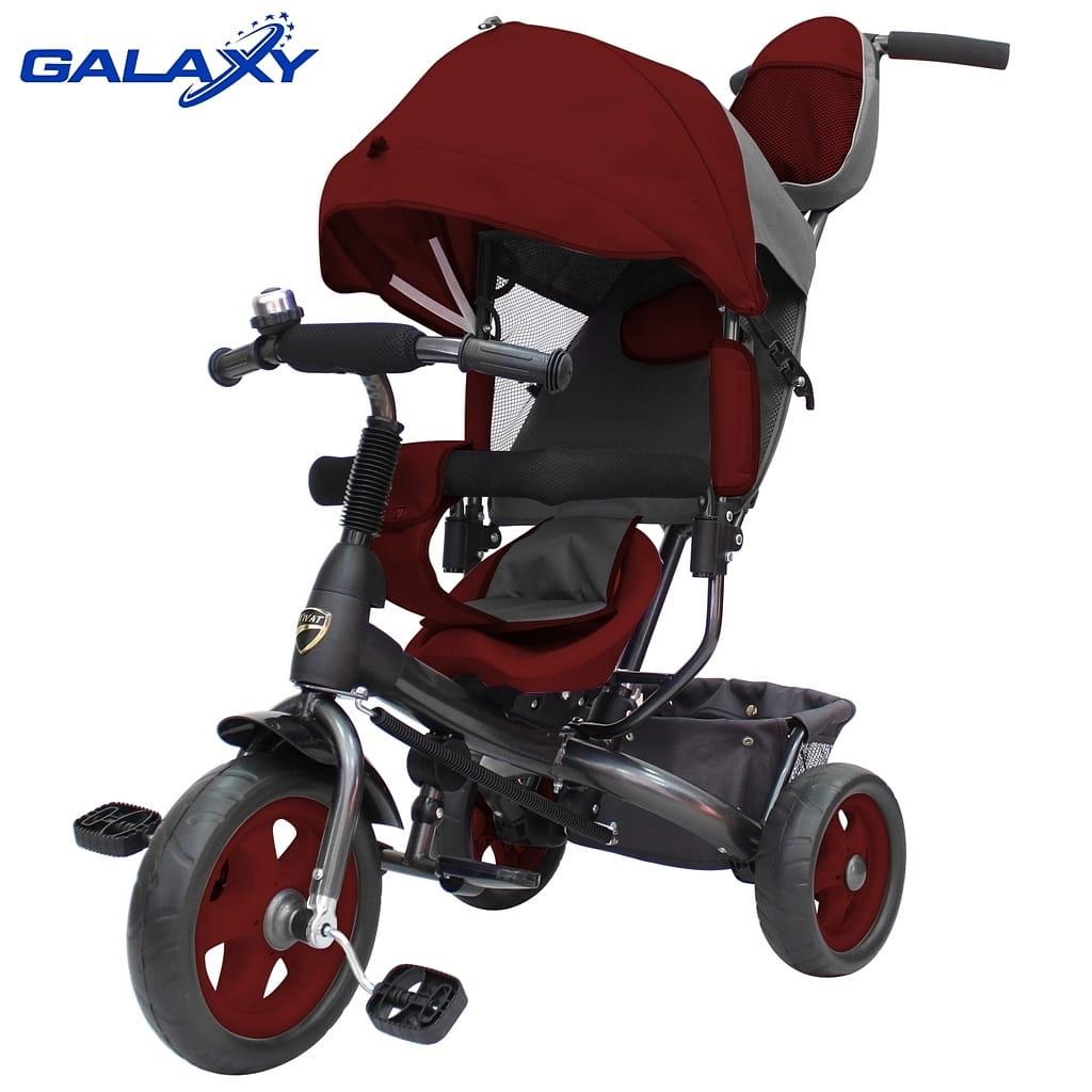 Трехколесный велосипед RT 6581 Galaxy Vivat - бордовый