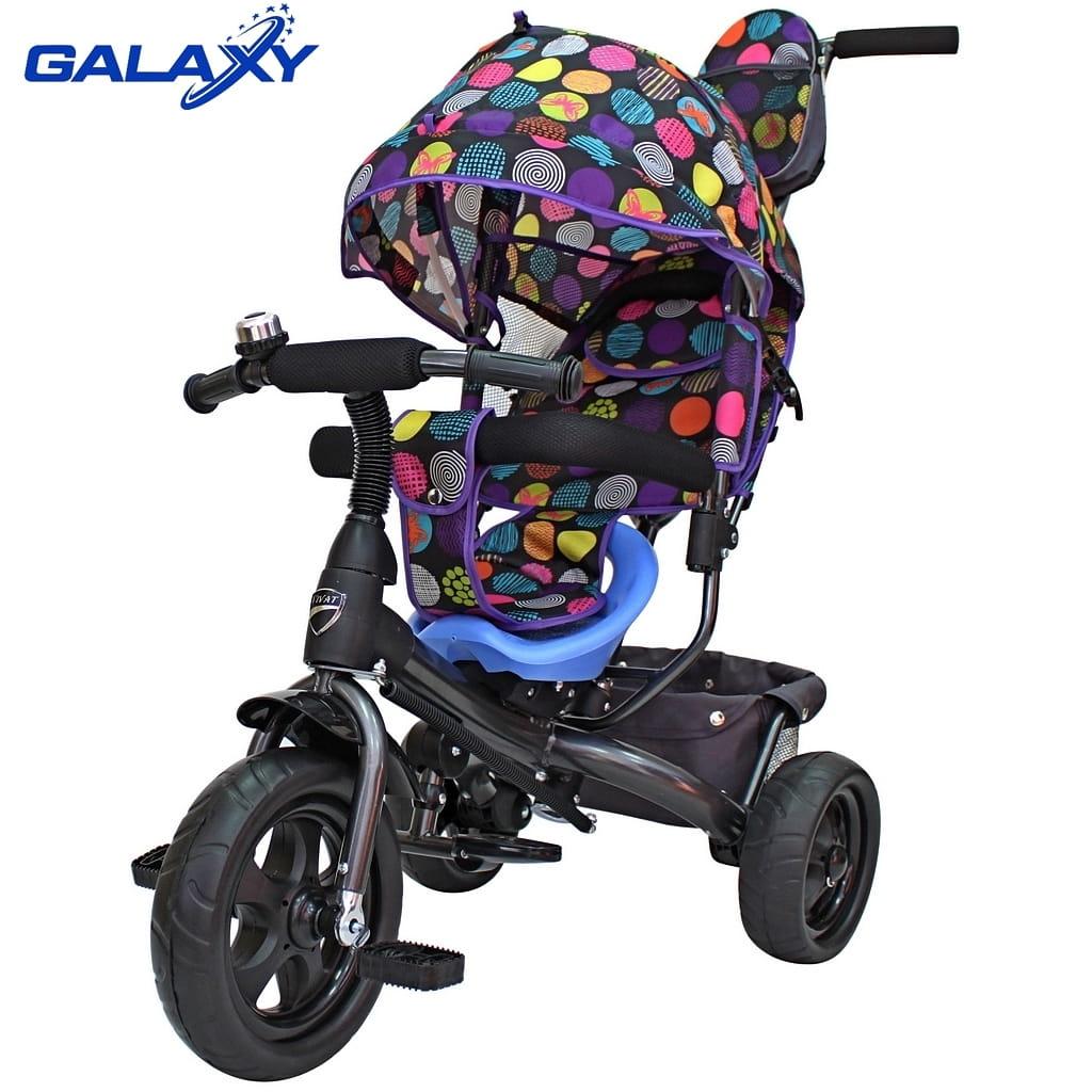 Трехколесный велосипед RT 6583 Galaxy Vivat - круги