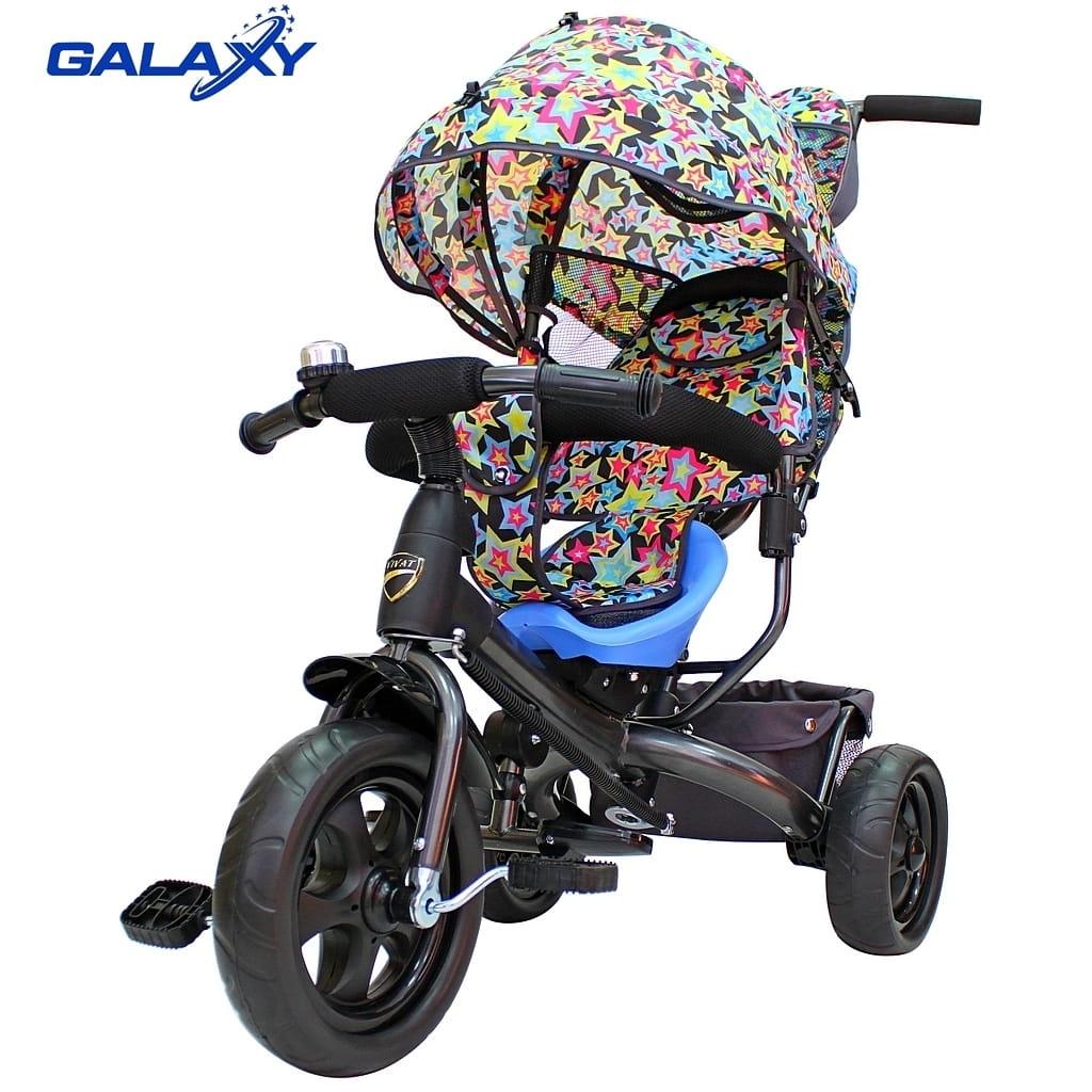 Трехколесный велосипед RT 6584 Galaxy Vivat - звезды