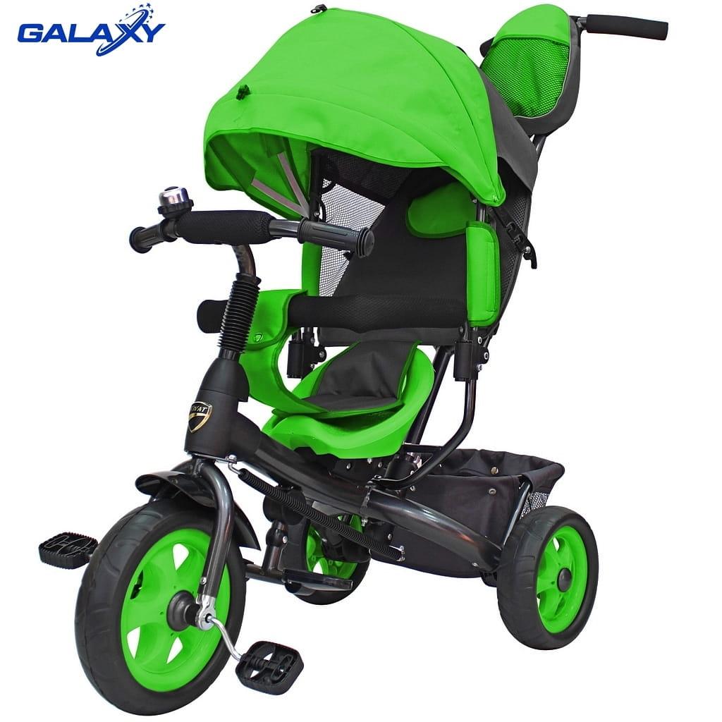 Трехколесный велосипед RT 6579 Galaxy Vivat - зеленый