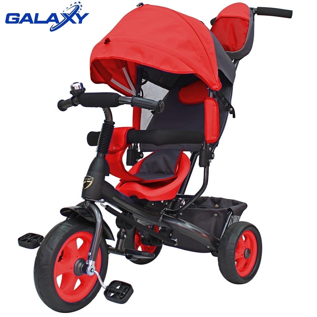 Трехколесный велосипед RT 6578 Galaxy Vivat - красный