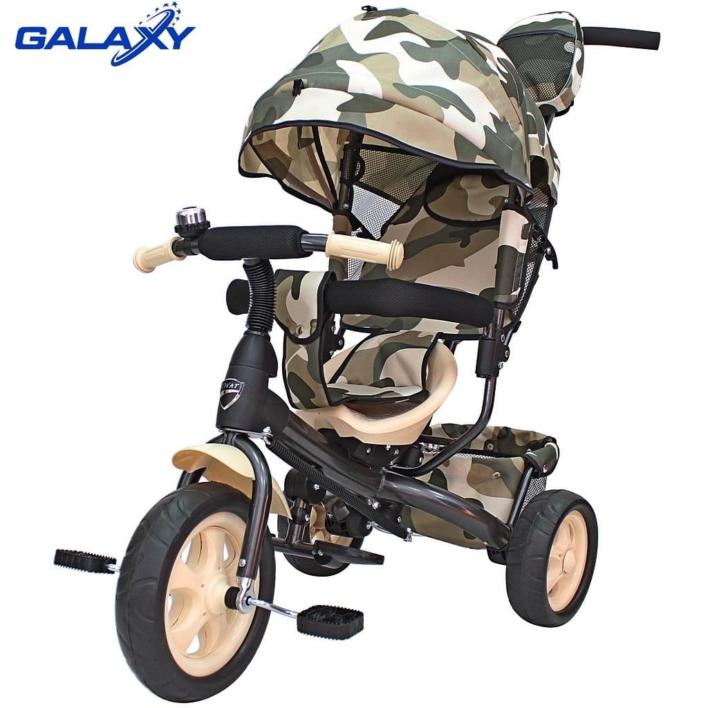Трехколесный велосипед RT 6577 Galaxy Vivat - милитари