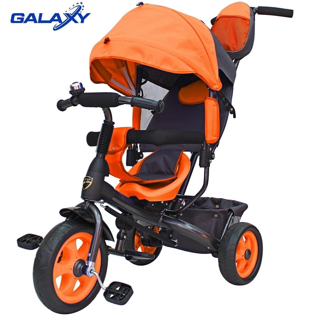 Трехколесный велосипед RT 6580 Galaxy Vivat - оранжевый