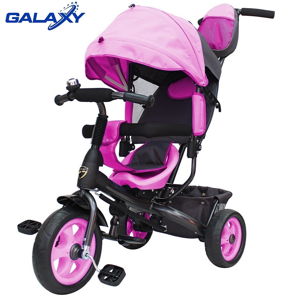Трехколесный велосипед RT 6576 Galaxy Vivat - розовый