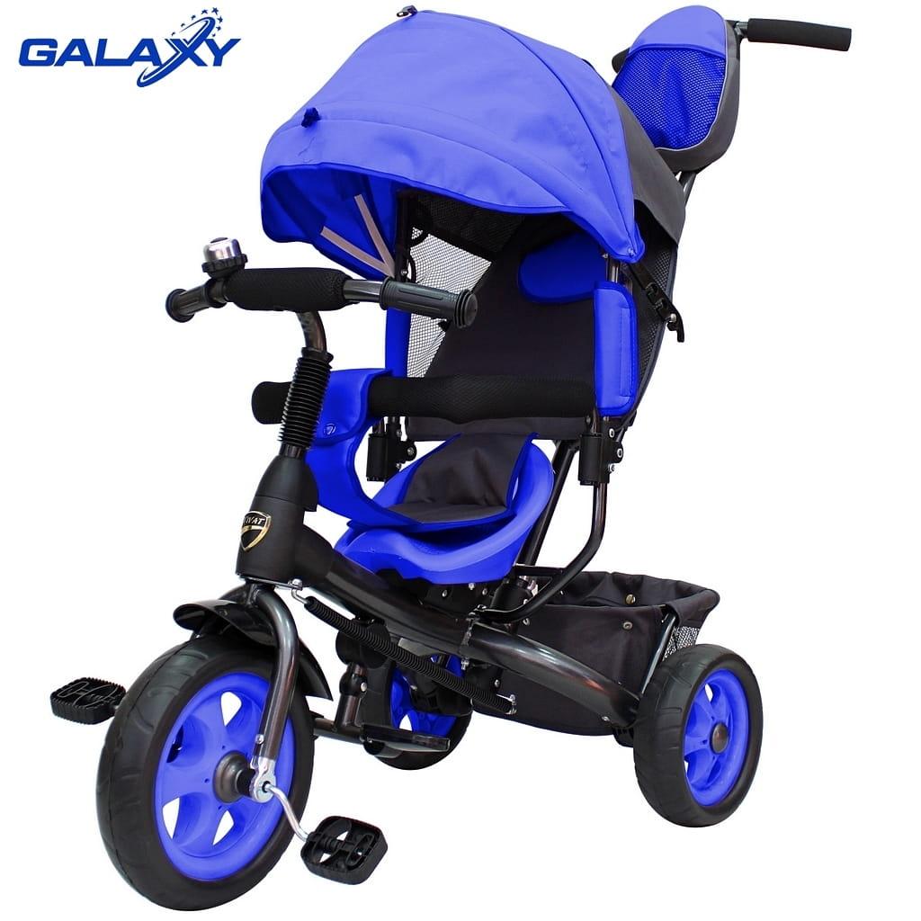 Трехколесный велосипед RT 6575 Galaxy Vivat - синий