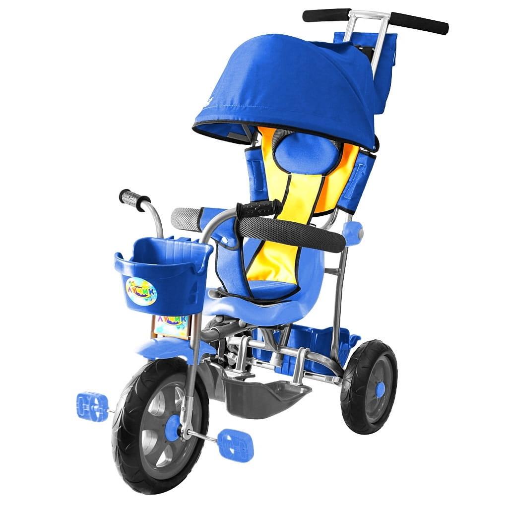 Трехколесный велосипед RT 5594 Galaxy Лучик - синий (с капюшоном)