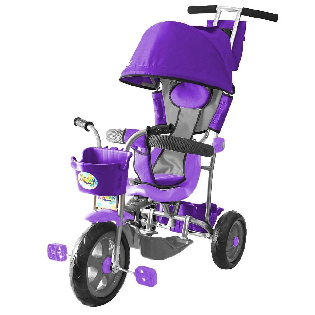 Трехколесный велосипед RT 5598 Galaxy Лучик - фиолетовый (с капюшоном)