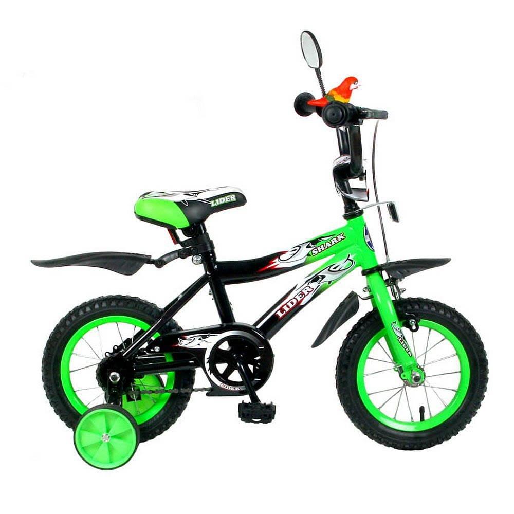 Детский велосипед Velolider 5506 Shark - 12 дюймов (зелено-черный)