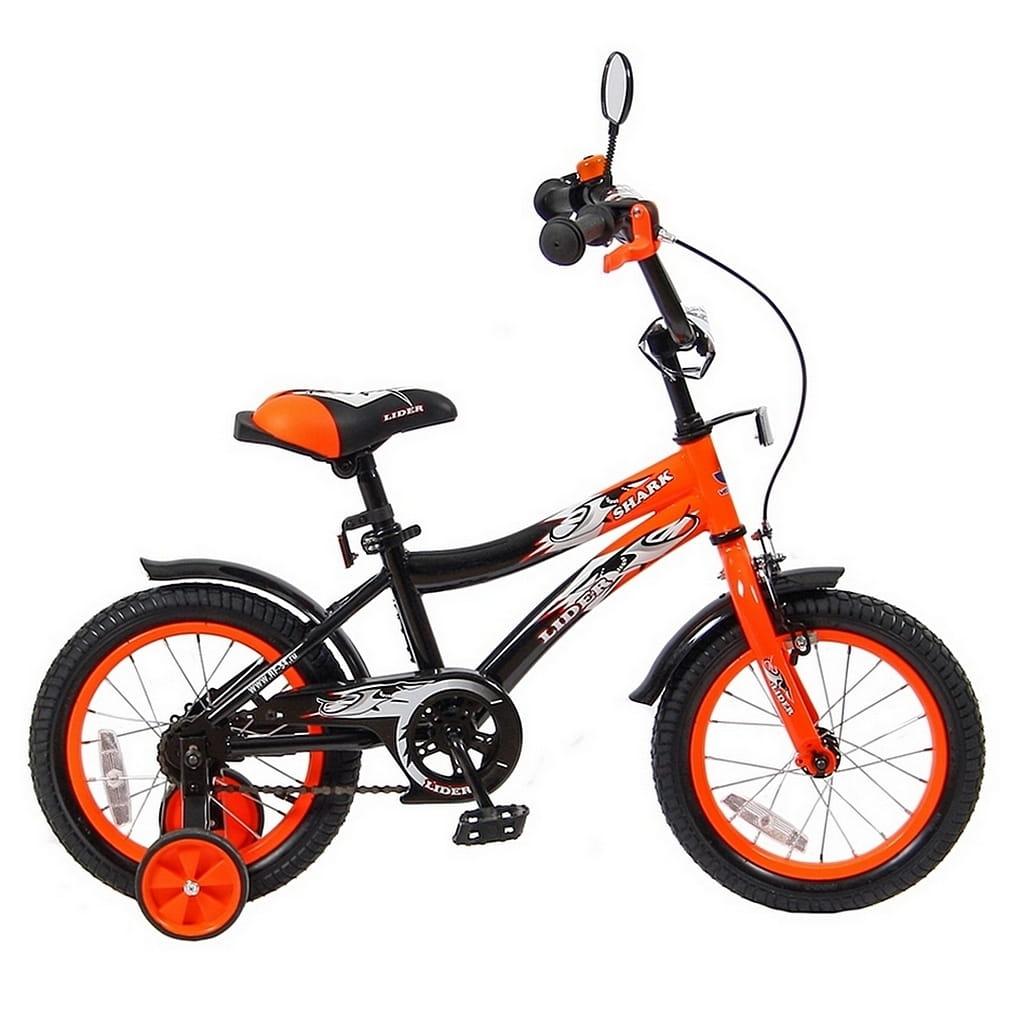 Детский велосипед Velolider 5516 Shark - 14 дюймов (оранжево-черный)