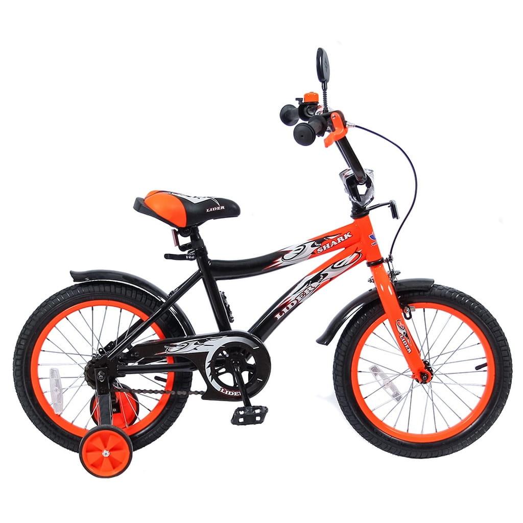Детский велосипед Velolider 5525 Shark - 16 дюймов (оранжево-черный)
