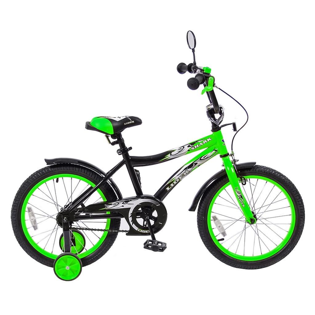 Детский велосипед Velolider Shark - 18 дюймов (зеленый)