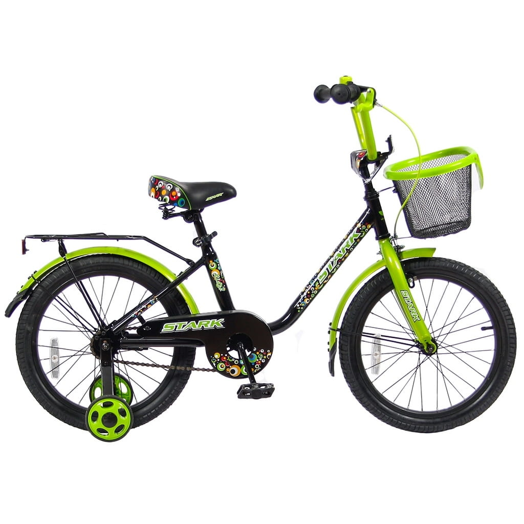 Детский велосипед Velolider 5542 Stark - 18 дюймов (черно-зеленый)