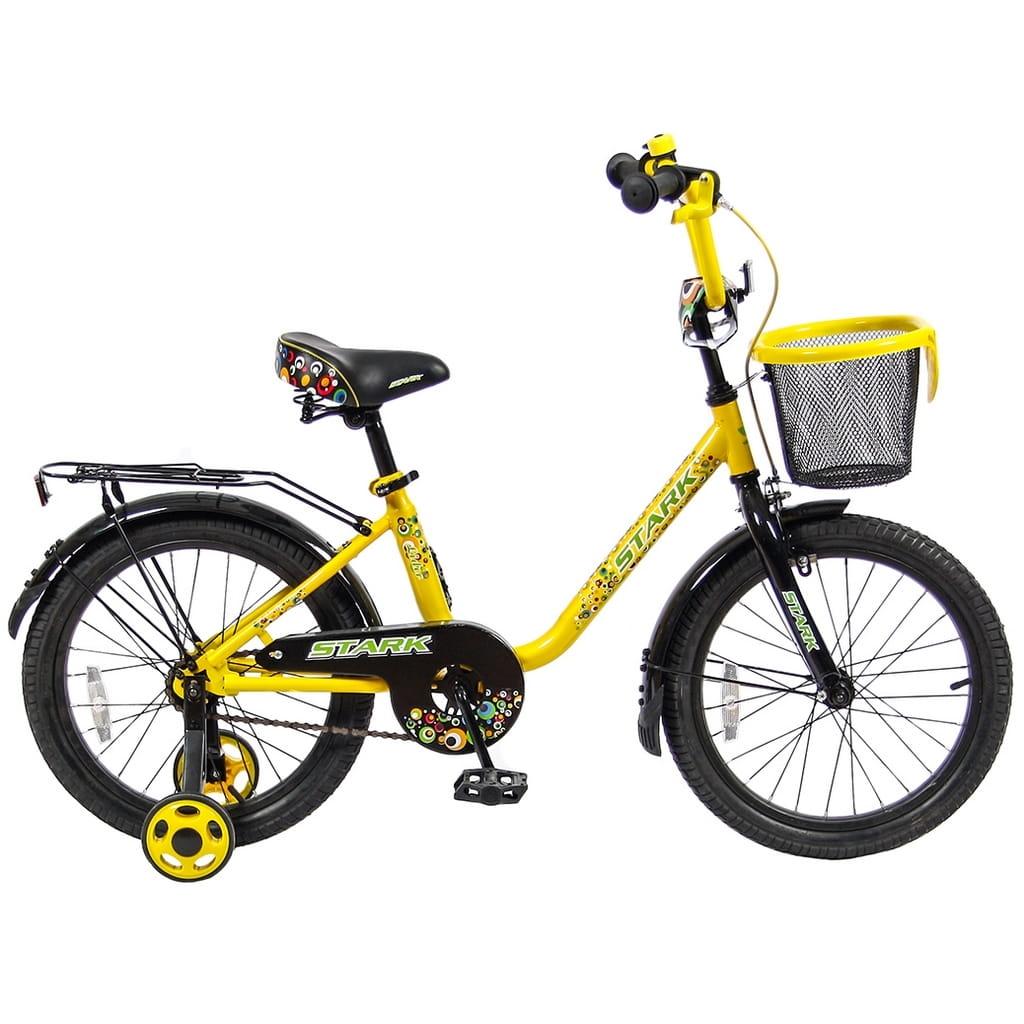 Детский велосипед Velolider 5541 Stark - 18 дюймов (желто-черный)
