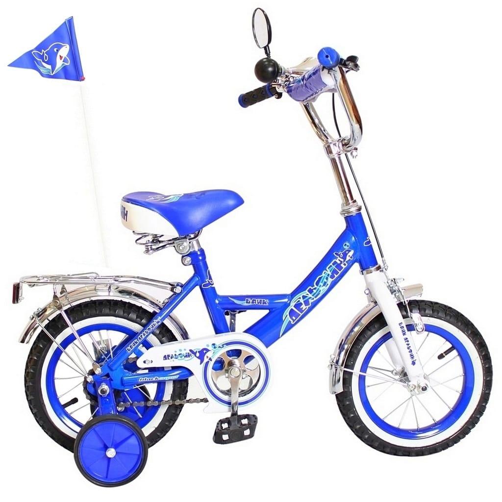 Детский велосипед RT 5437 Дельфин - 12 дюймов (синий)