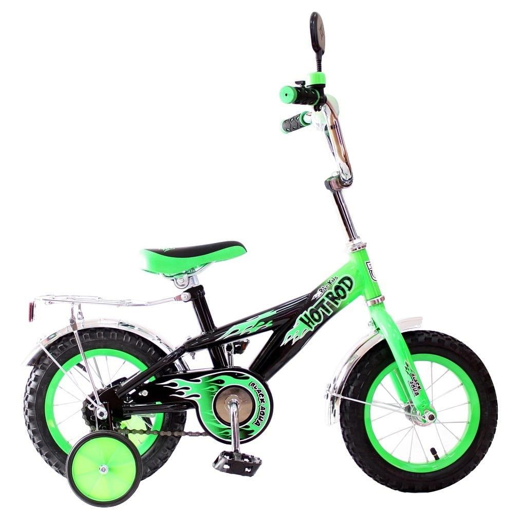 Детский велосипед RT 5419 Hot-Rod - 12 дюймов (зеленый)