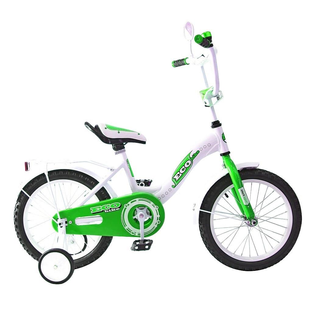 Детский велосипед RT 5413 Ecobike - 14 дюймов (зеленый)