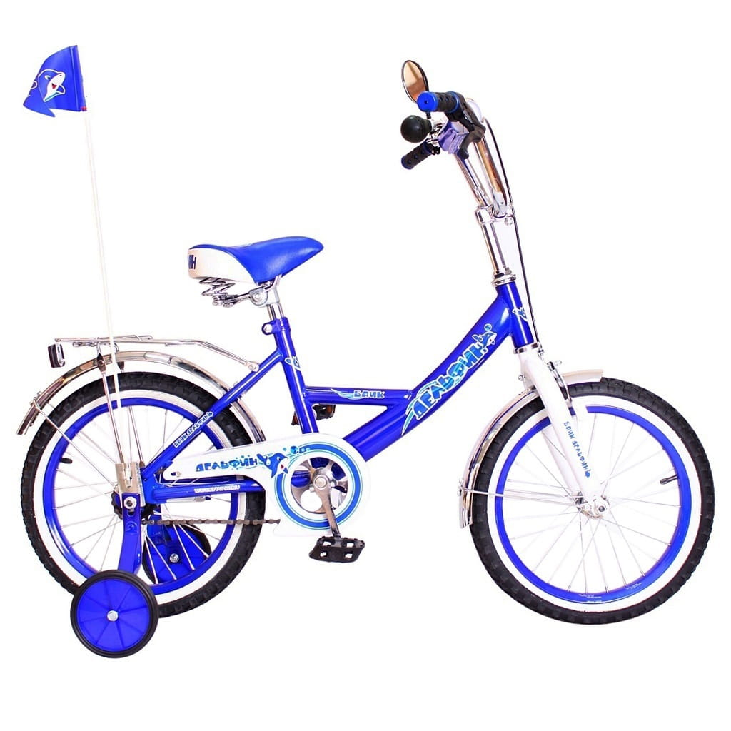 Детский велосипед RT 5439 Дельфин - 16 дюймов (синий)