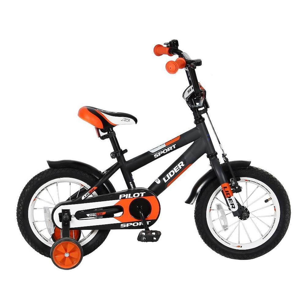 Детский велосипед Velolider 5514 Pilot - 14 дюймов (черно-оранжевый)