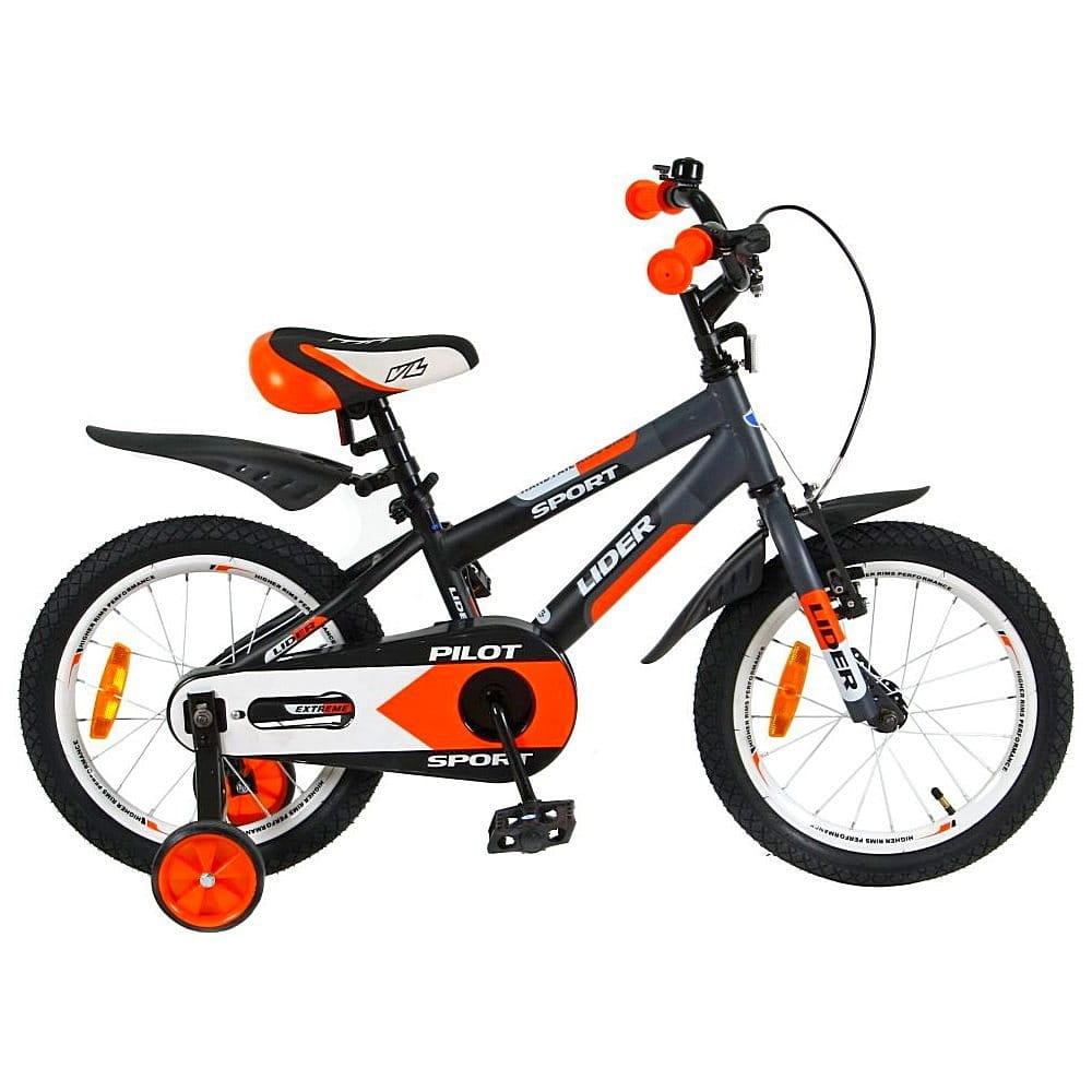 Детский велосипед Velolider 5523 Pilot - 16 дюймов (черно-оранжевый)