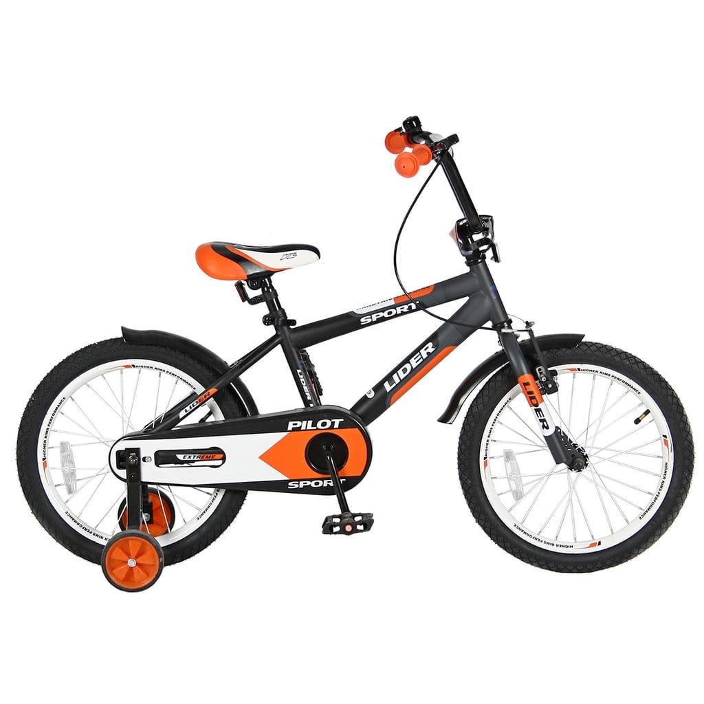 Детский велосипед Velolider Pilot - 18 дюймов (черно-оранжевый)