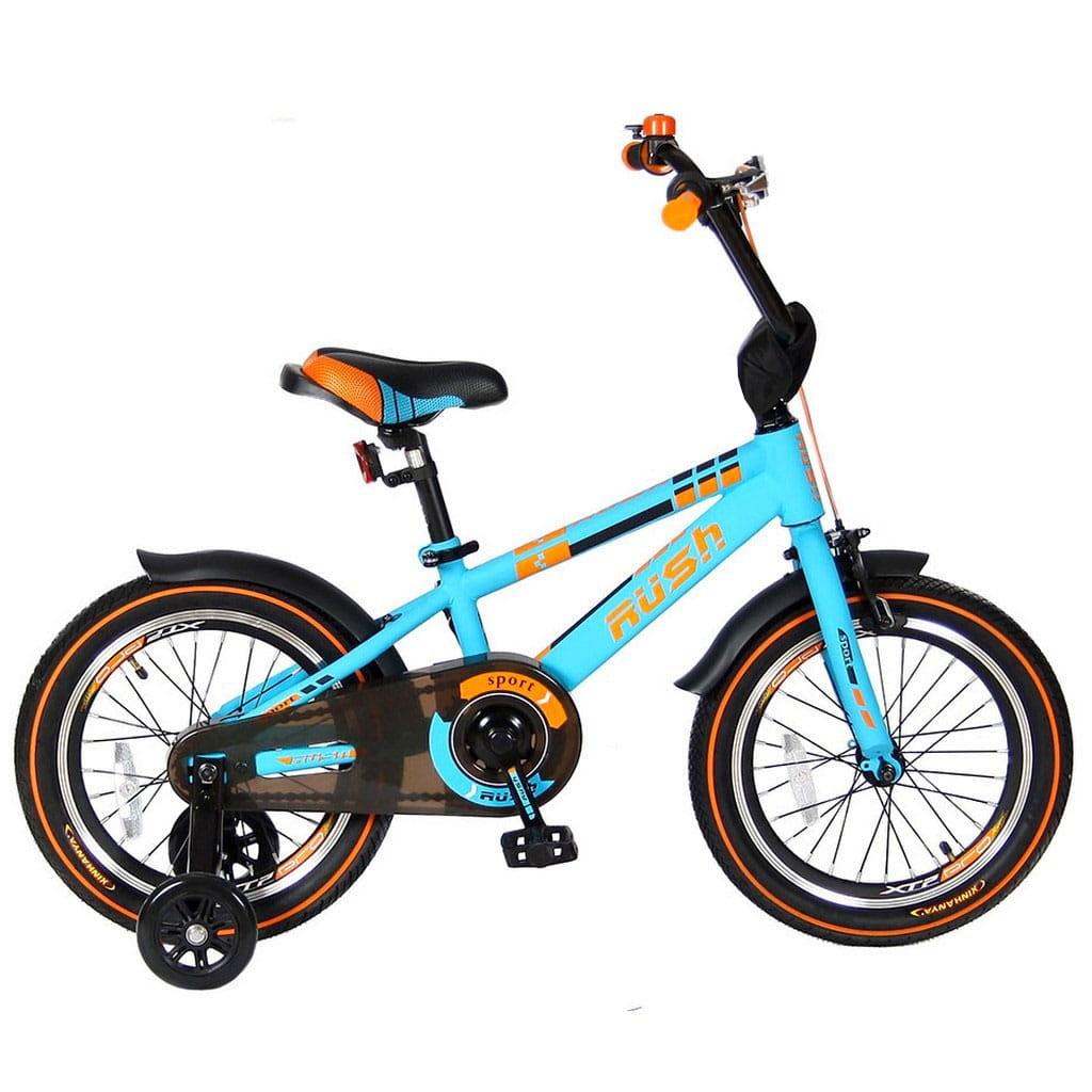Детский велосипед VELOLIDER Rush Sport - 16 дюймов (бирюзовый)