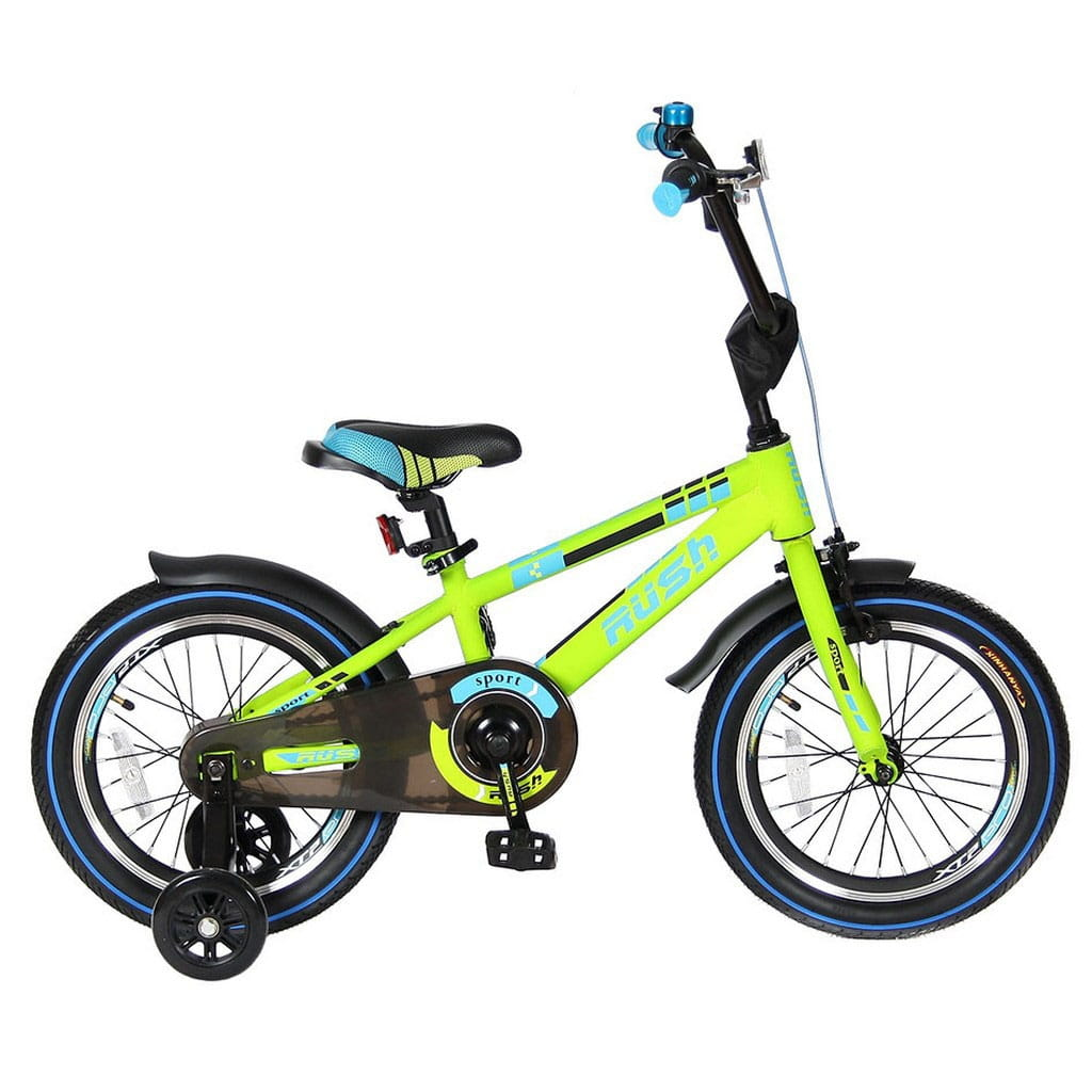 Детский велосипед VELOLIDER Rush Sport - 16 дюймов (зеленый)