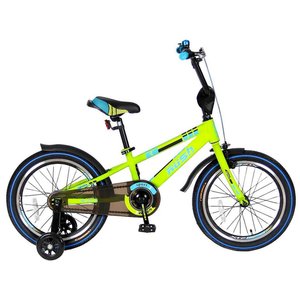 Детский велосипед Velolider Rush Sport - 18 дюймов (зеленый)